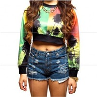 Islands Crop Top Sweater