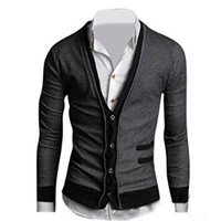 Jeansian Men's Slim Fit Long Sleeves Casual Shirts Cardigans Sweater