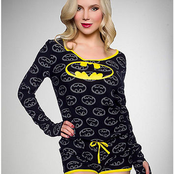 Batgirl Long Sleeve Romper - Spencer's