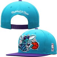 Charlotte Hornets Mitchell & Ness XL Logo Snapback Adjustable Hat – Teal