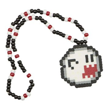 Super Mario Ghost Boo Kandi Necklace