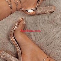 My Glam Life Rhinestone Sandals