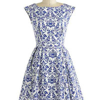 Retro Style Floral Print Sleeveless Dress with Pockets