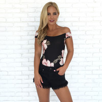 Rosie Floral Off Shoulder Bodysuit