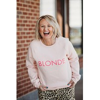 Brunette The Lable Core Crew Pink Sweater
