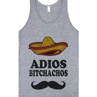 Adios Bitchachos-Unisex Athletic Grey Tank