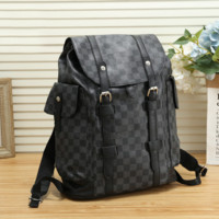 Louis Vuitton Leather Bookbag Daypack Travel Bag School Bag Backpack