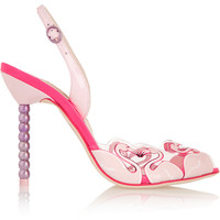 Sophia Webster - Flamingo PVC and patent leather sandals