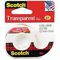 Scotch Transparent Tape 0.50 Width x 37.50 ft Length 1 Core Acrylate Non yellowing Photo safe Dispenser Dispenser Included 1 Roll Clear by Office Depot & OfficeMax