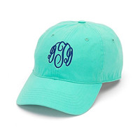 Monogrammed Mint Woman's Baseball Cap Personalized