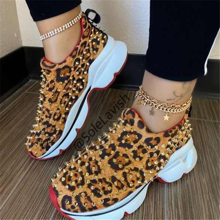 Image of New style rivet casual shoes large size women's shoes cover foot flat shoes