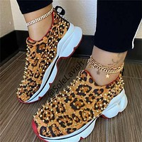 New style rivet casual shoes large size women's shoes cover foot flat shoes