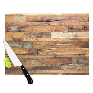 "Susan Sanders ""Campfire Wood"" Rustic Cutting Board"