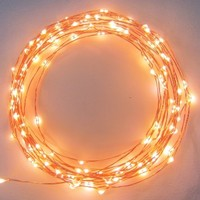 Brightech Even Warmer Starry String Lights, Golden Warm White Color LED's on a Flexible Copper Wire, 20 ft.