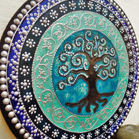 Tree of life plaque Tree of life painting Wall decor Wooden plaque Tree of life decor