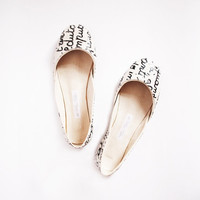up-cycled soft leather ballet flats. a letter from Italy.