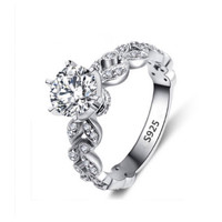 Beautiful Cubic Zirconia-925 Sterling Silver Engagement Style Ring