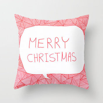 Merry Christmas! Throw Pillow by Fimbis   Society6