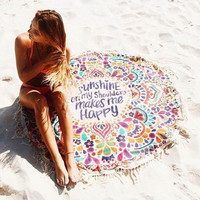 """""""Sunshine on My Shoulders Makes Me Happy"""" Wrap/Throw"""