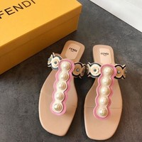 FENDI Pearl Sandal Slipper