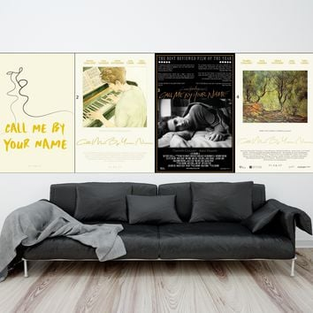 Call Me By Your Name Movie Poster Wall Art Wall Decor Silk Prints Art Poster Paintings For Living Room No Frame