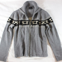 """~~~ I COULD JUST DIE! ~~~ BOGNER VIRGIN WOOL GRAY """"CARDIGAN"""" KNIT SWEATER ~ S"""