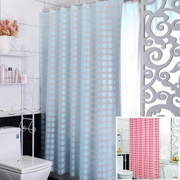 Fashion Blue PEVA Shower Curtain Waterproof Mold Proof Eco-friendly Endless Bath Curtain Hot Bathroom Products Free Shipping