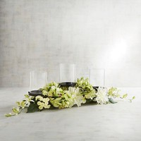 Faux Floral Centerpiece Candle Holder