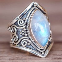 Marquise Moonstone Vintage Ring