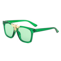GUCCI Fashion New Big Bee Solid Color Leopard Print Polarized Women Men Eyeglasses Glasses
