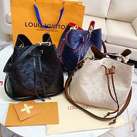 LV Louis Vuitton Fashion Women Shopping Bag Leather Bucket Bag Shoulder Bag Crossbody Satchel