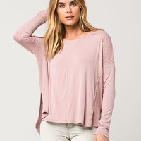 OTHERS FOLLOW Thermal Knit Womens Top | Raglans + L/S Tees
