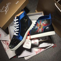 Cl Christian Louboutin Rythinestone Style #1921 Sneakers Fashion Shoes