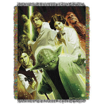 Star Wars Small Rebel Force  Woven Tapestry Throw (48inx60in)
