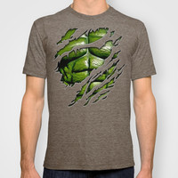 Bruce banner ripped torn tee tshirt iphone 4 4s, 5 5s 5c, ipod, ipad, pillow case T-shirt by Three Second