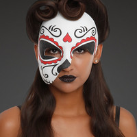Day Of The Dead Half Mask