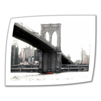 Art Wall NYC's Brooklyn Bridge 18 by 24-Inch Unwrapped Canvas Art by Linda Parker with 2-Inch Accent Border