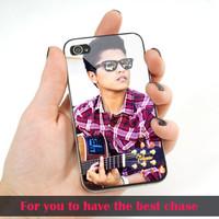 Bruno Mars Playing Guitar - Print on cover for iPhone 4/4S/5/5S/5C cases