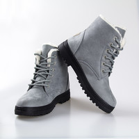 Ankle boots for women shoes 2016 new arrival women winter heels boots warm snow boots