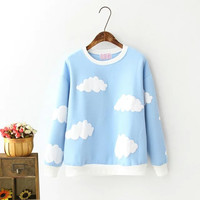 Clouds Print Sweater