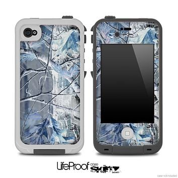 The Inverted Bare Camouflage Winter Skin for the iPhone 4 or 5 LifeProof Case