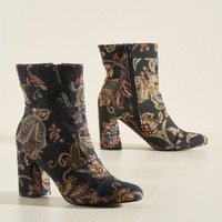 Poetic License What Comes to Stride? Boot in Tapestry | Mod Retro Vintage Boots | ModCloth.com