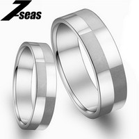 1 Piece Price Fashion Stainless Steel Couple Finger Rings New Romantic Engagement Wedding Promise Rings Women Men Jewelry JM036