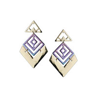 Large Cutout Iridescent Earrings - New In This Week  - New In