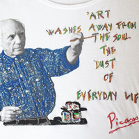 PICASSO T-shirt Quote Wearable Art Camiseta Pintada