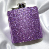 3 oz Womens Glitter Hip Flask Sparkling by YouNiqueGarters on Etsy