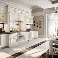 DECAPÉ KITCHEN WITH HANDLES PANTHEON | LACQUERED KITCHEN | CUCINE LUBE