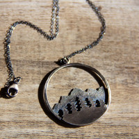 Pines & Peaks Pendant- Mountain Collection