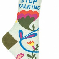 Stop Talking Women's Crew Socks