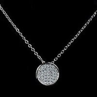 Designs by Stephene Small Rhinestone Disc Necklace
